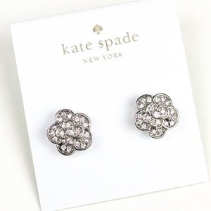kate spade silver floral earrings